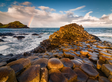 Sunrise at the Giant's Causeway.