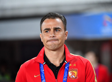 Cannavaro's side secured a 5-0 win on Wednesday in the Chinese FA Cup.