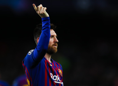 Lionel Messi pictured during last night's match.