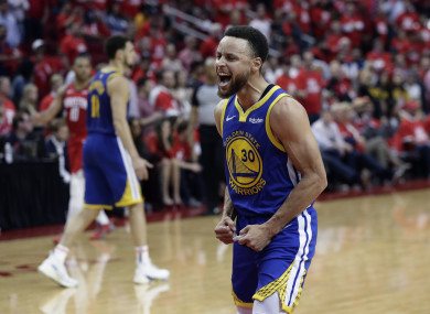 Steph Curry scored 33 points for the Warriors.