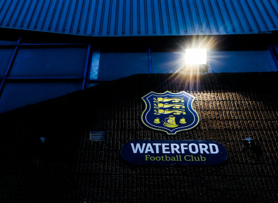 Waterford FC: denied a Europa League licence by Uefa.