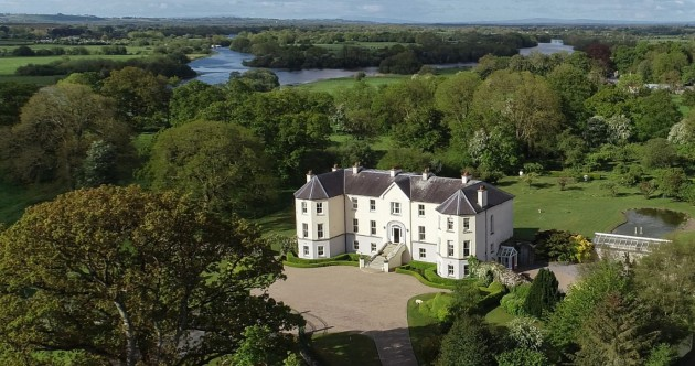 Hit all the right notes with this grand €2.65m mansion on the banks of the Shannon