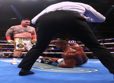 Anthony Joshua is felled by bolt-from-the-blue Mexican-American heavyweight champion Andy Ruiz.