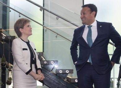 Leo Varadkar and Scottish First Minister Nicola Sturgeon met in Manchester today.