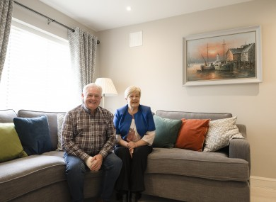 Shay and Thelma Kearney in their new home.