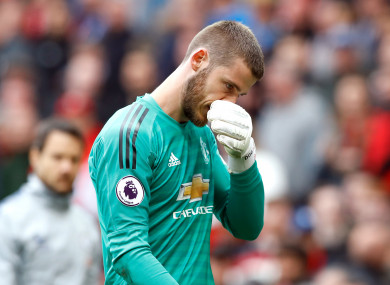 David de Gea had a disappointing end to the season with Man United.