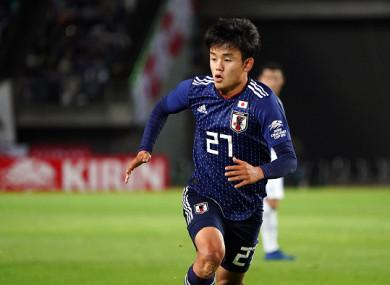 Kubo has already played senior international football for Japan.