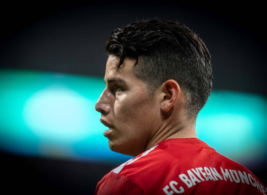 James Rodriguez has not been a regular starter for Bayern in recent times.