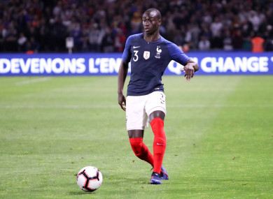 Mendy in action for France during a friendly against Bolivia.