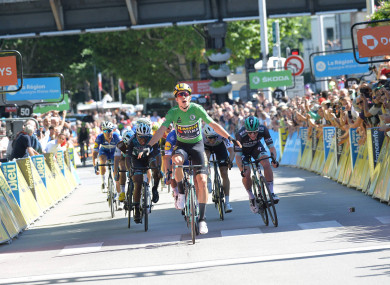 Wout van Aert wins his second consecutive stage at the Criterium Du Dauphine.