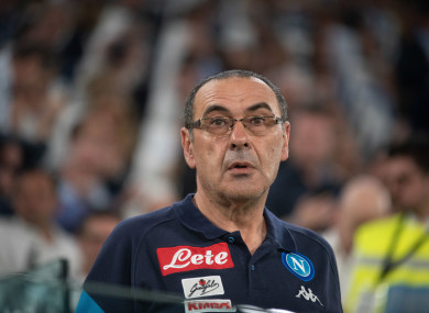 Sarri was in charge of Napoli before joining Chelsea last summer.