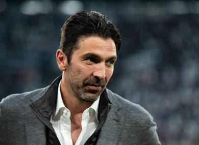 Buffon's departure from PSG was announced on Wednesday.