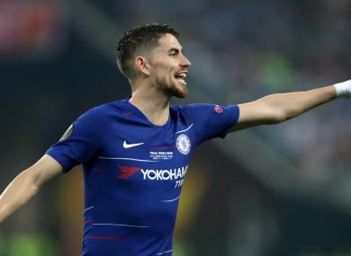 Chelsea midfielder Jorginho.