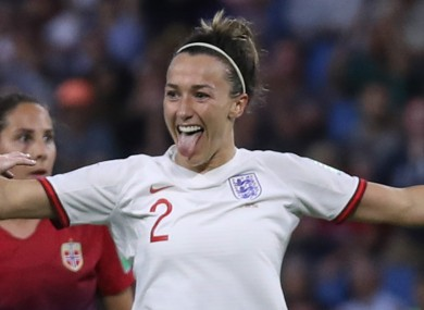 England ace Lucy Bronze.