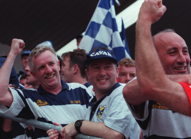 Martin McHugh celebrating the 1997 Ulster football final win.