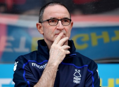 Martin O'Neill was dismissed as Nottingham Forest boss during the week.