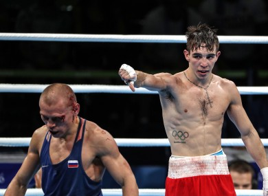 Conlan after his 2016 Olympic quarter-final against Nikitin.
