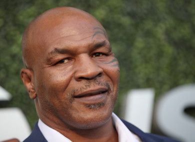 Mike Tyson on a day away from the office.