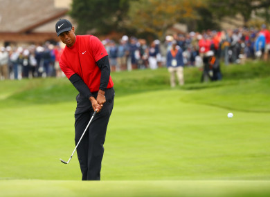 Woods staged a strong revival on the back nine on Sunday.