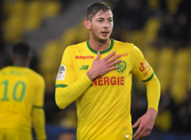 Emiliano Sala's (file photo).