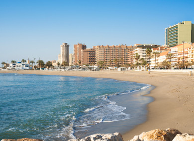 Fuengirola beach on the southern Spanish coast