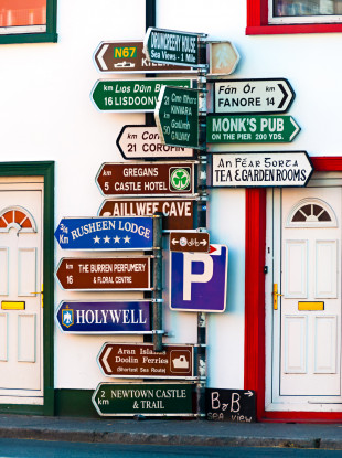 Signs in Ballyvaughan, Co Clare