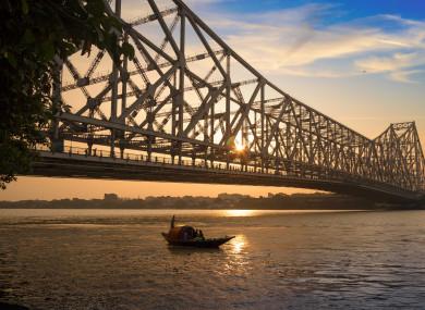 The stunt took place in Kolkata, India.