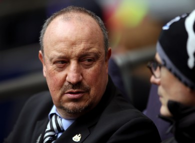 Benitez will be moving on at the end of his contract, which expires on 30 June.