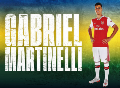 Signed, sealed, delivered: Gabriel Martinelli.