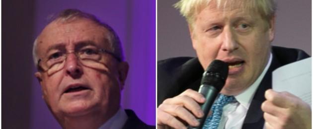 Richard  Pym, AIB Chairman, and UK prime minister hopeful, Boris Johnson.