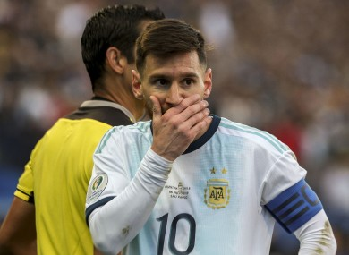 The Barcelona star was sent off in yesterday's third-place play-off with Chile.