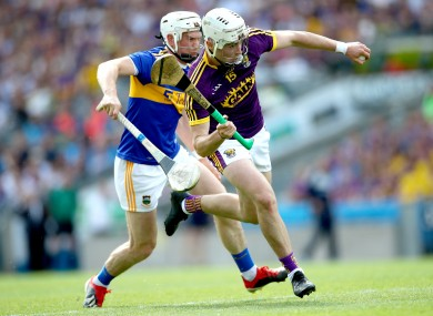 Tipperary's Brendan Maher and Wexford's Rory O'Connor.