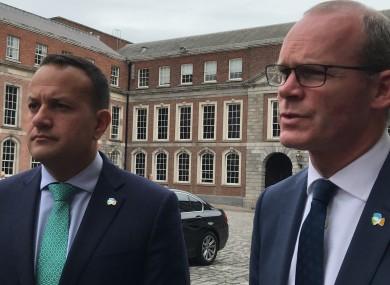 Taoiseach Leo Varadkar with Tánaiste Simon Coveney