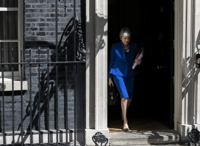 Theresa May will leave Downing Street for the final time today.
