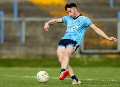 Ciaran Archer scores a penalty for Dublin.