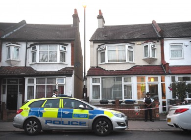 The scene where the young woman was stabbed on Saturday.