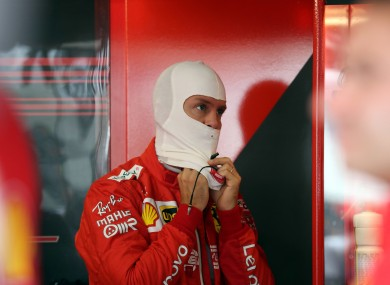 Sebastian Vettel pictured at the German Grand Prix on Saturday.