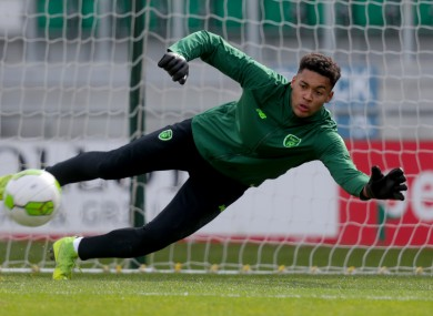 Ireland underage goalkeeper. Gavin Bazunu.