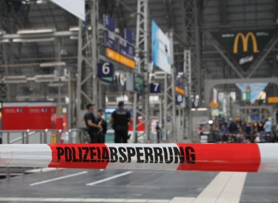 Parts of Frankfurt main station where the incident occurred were closed off by police.