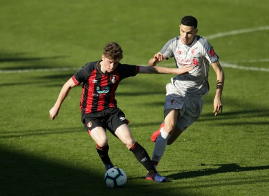 Kilkenny in action for Bournemouth U23s last season.