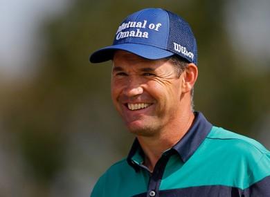 All smiles: Harrington enjoyed another excellent round on Thursday.