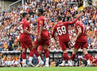 Milner celebrates his second.