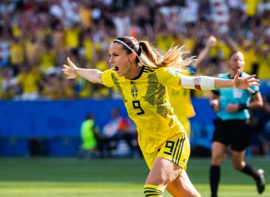 Kosovare Asllani in action during the Women's World Cup.