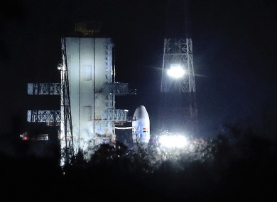 Chandrayaan-2 stands at Satish Dhawan Space Centre following its aborted launch last week