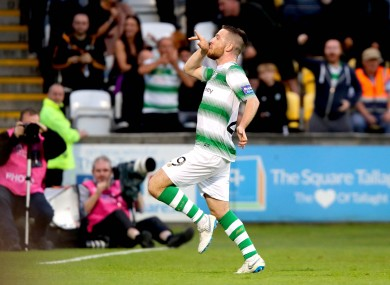 Jack Byrne celebrates his opening goal.