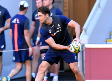 James O'Connor in training with Australia.