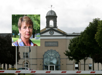 Majella Moynihan, inset, was at Templemore, pictured, in 1983 when she had a relationship with a fellow garda recruit.