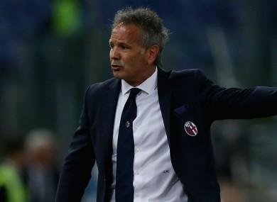 Bologna coach Sinisa Mihajlovic.