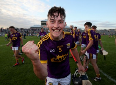 Niall Murphy of Wexford celebrates after the game.