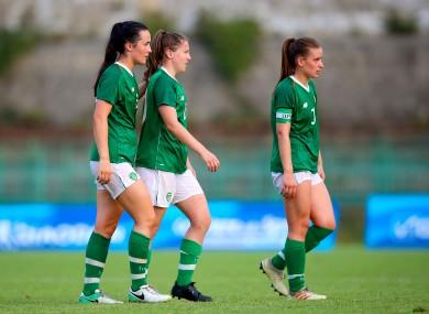 Ireland's Niamh Farrelly with Eleanor Ryan Doyle.